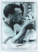 Football. Nat Lofthouse Signed 16x12 black and white photo. Autographed Editions, Limited