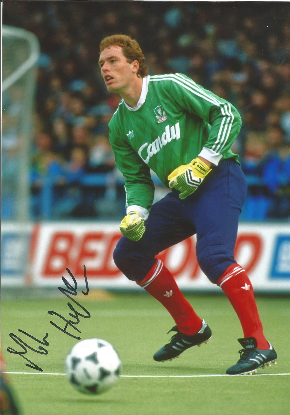 Mike Hooper Signed Liverpool 8x12 Photo. Good condition. All autographs come with a Certificate of