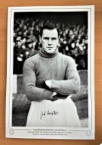 Football, Jack Crompton signed 12x18 black and white photograph pictured during his time playing for