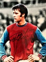 Football, Sir Geoff Hurst signed 12x16 colour photograph picturing during his time playing for