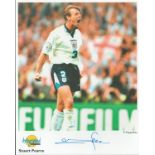 Football. Stuart Pearce Signed 10x8 Autographed Editions page. Bio description on the rear. Photo