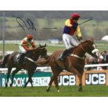 Richard Johnson Signed Horse Racing Jockey 8x10 Photo. Good condition. All autographs come with a