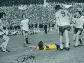 Football. Charlie George Signed 12x16 colour photo. Photo shows George Celebrating. Good
