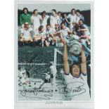 Trevor Brooking and Billy Bonds signed 16x12 West Ham United 1980 F. A Cup Winners colour montage