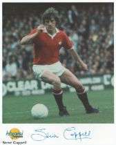 Football. Steve Coppell Signed 10x8 Autographed Editions page. Bio description on the rear. Photo