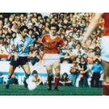 Football. Ossie Ardiles Signed 10x8 colour photo. Photo shows Ardiles in action for Spurs Vs Notts