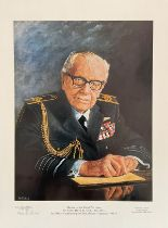 Stan Baldock Signed Limited Edition Print. Print of Sir Arthur Harris. Signed by the artist. Limited