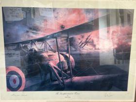"""Vice Admiral Sir Richard Janvrin and Commander Charles Lamb Signed Robert Taylor print. Titled """""""