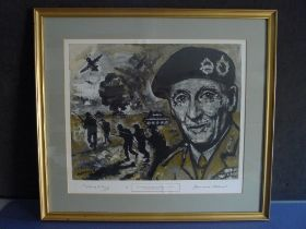 B10 The Spirit of Alamein by J Lawrence Isherwood signed by Field Marshall Montgomery of Alamein.
