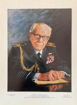 Stan Baldock Limited Edition Print. Print of Sir Arthur Harris. Limited edition of 950 printed. Good