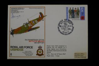 B26 Scarce WW2 RAF Battle of Britain signed cover - Air Vice Marshal Stanley Flamank Vincent, CB,
