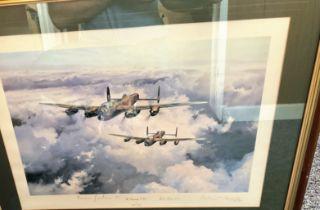 World War II Sgt Norman Jackson VC, Bill Reid VC and Sir Arthur Harris, 1st Baronet signed 27x21