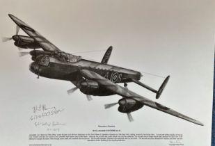Dambusters World War II 12x17 print Operation Chastise Avro Lancaster B. III ED865 AJ-S signed in