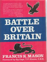 Battle Over Britain book signed by 350 RAF WW2 BOB pilot collection Anthony Stanford Tuck
