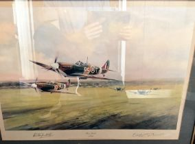 """Robert Stanford-Tuck Signed Robert Taylor Print. Titled """"Dawn Scramble"""". Also signed by the Artist"""