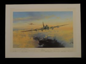 """B2 Rare Robert Taylor """"Helping Hand"""" signed by an impressive 16 famous Luftwaffe, USAAF, RAF and"""