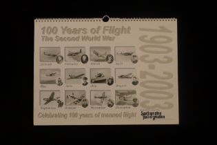 B16 A calendar signed by 12 RAF World War Two veteran pilots. This is a limited edition calendar