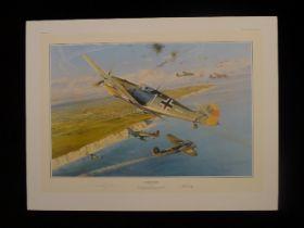"B4 Robert Taylor ""Steinhoff Tribute"" Ltd. Edition signed by General Johannes Steinhoff KC with Oak"