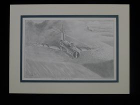 """B13 RARE Philip West ORIGINAL PENCIL DRAWING """"Final Concept Sketch - A Bat Out Of Hell"""" signed by"""