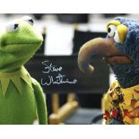 Kermit the Frog 8x10 Muppets photo signed by Kermit's voice actor Steve Whitmire. Good condition.