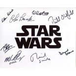 Star Wars 8x10 photo signed by EIGHT actors who were in the films, including 2nd Unit Director