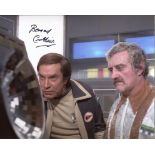 Space 1999 photo signed by actor Bernard Cribbins. Good condition. All autographs come with a