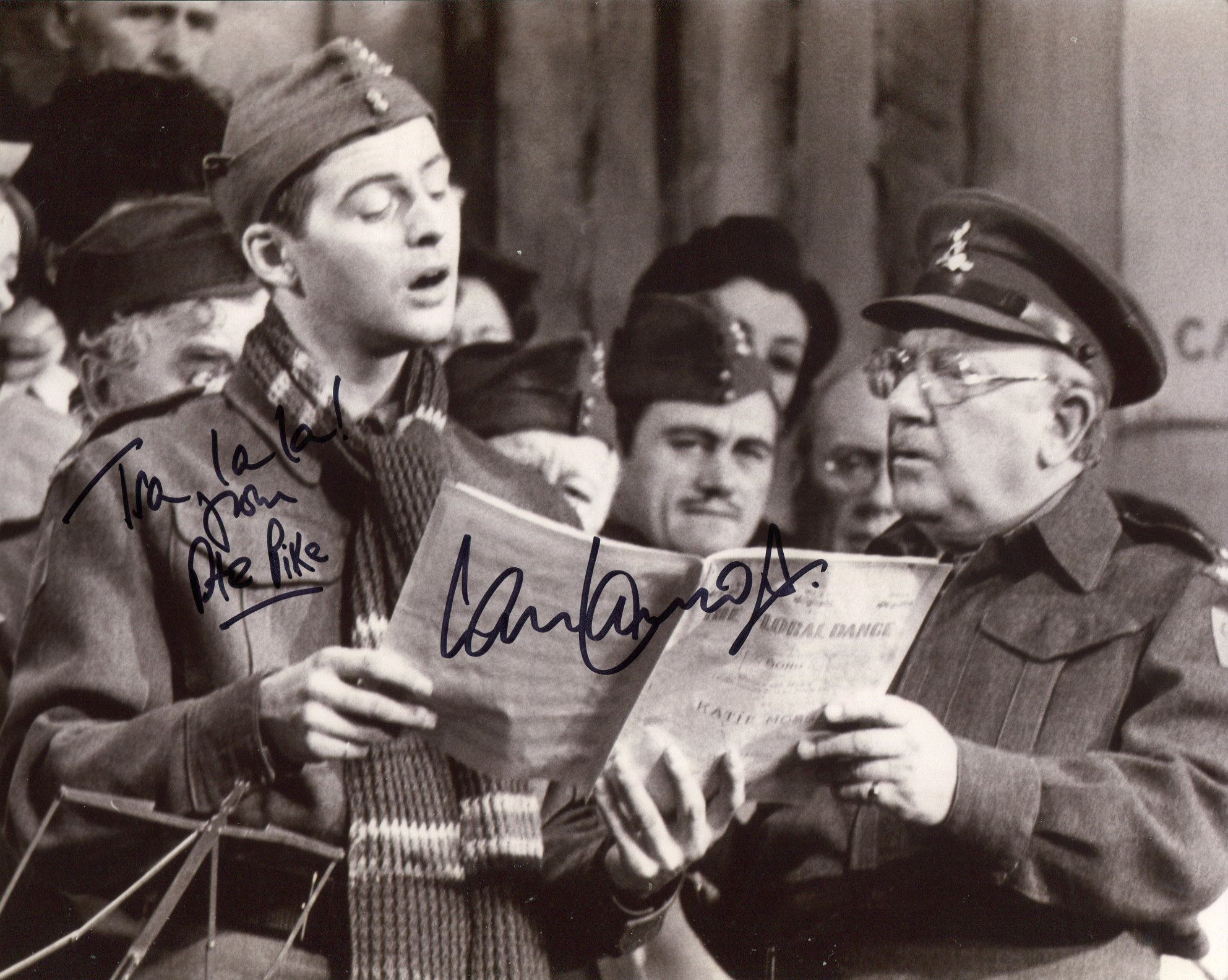 Dads Army 8x10 comedy photo signed by actor Ian Lavender who played Private Pike in the series. Good