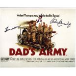 Dads Army 8x10 comedy photo signed by actors Frank Williams The Vicar and Ian Lavender who played