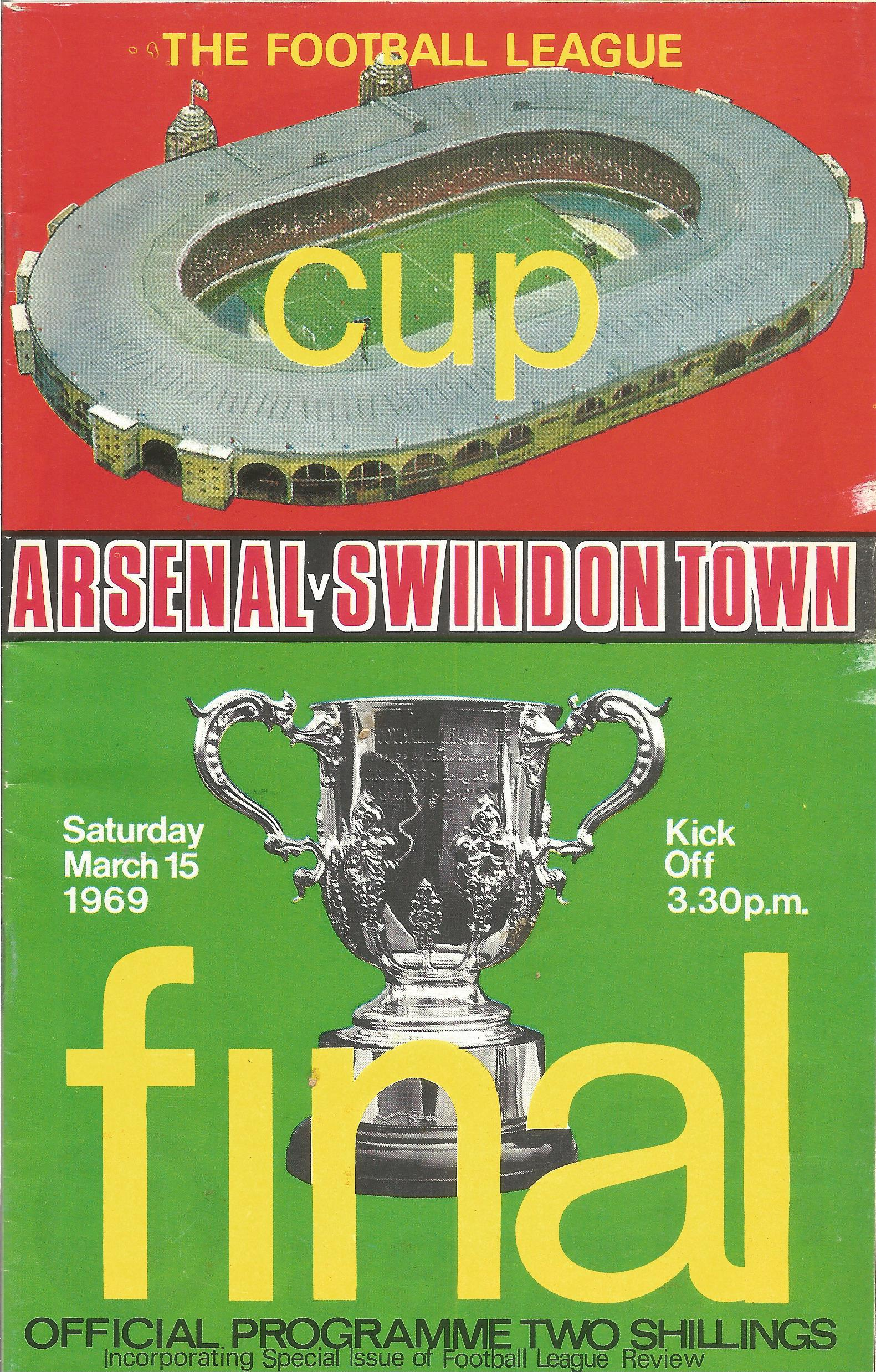 Arsenal. A Collection of 4 matchday programmes. From 1950, 1969, 1969 and 1983. some showing signs - Image 5 of 5
