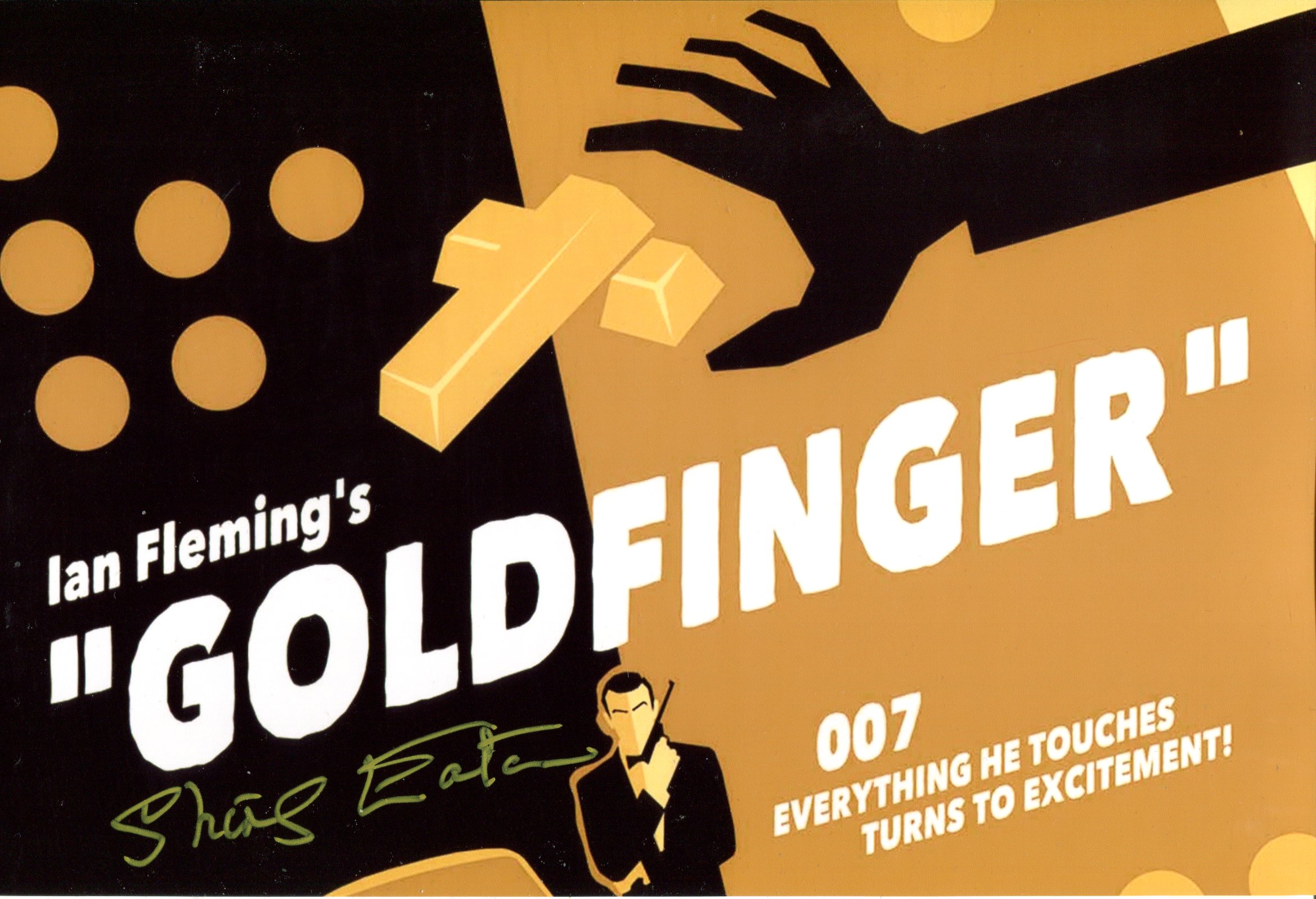 007 Bond movie Goldfinger 8x12 photo signed by Bond girl Shirley Eaton. Good condition. All