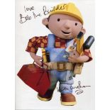 Bob the Builder 8x10 photo signed by Bob The Builder creator Keith Chapman. Good condition. All