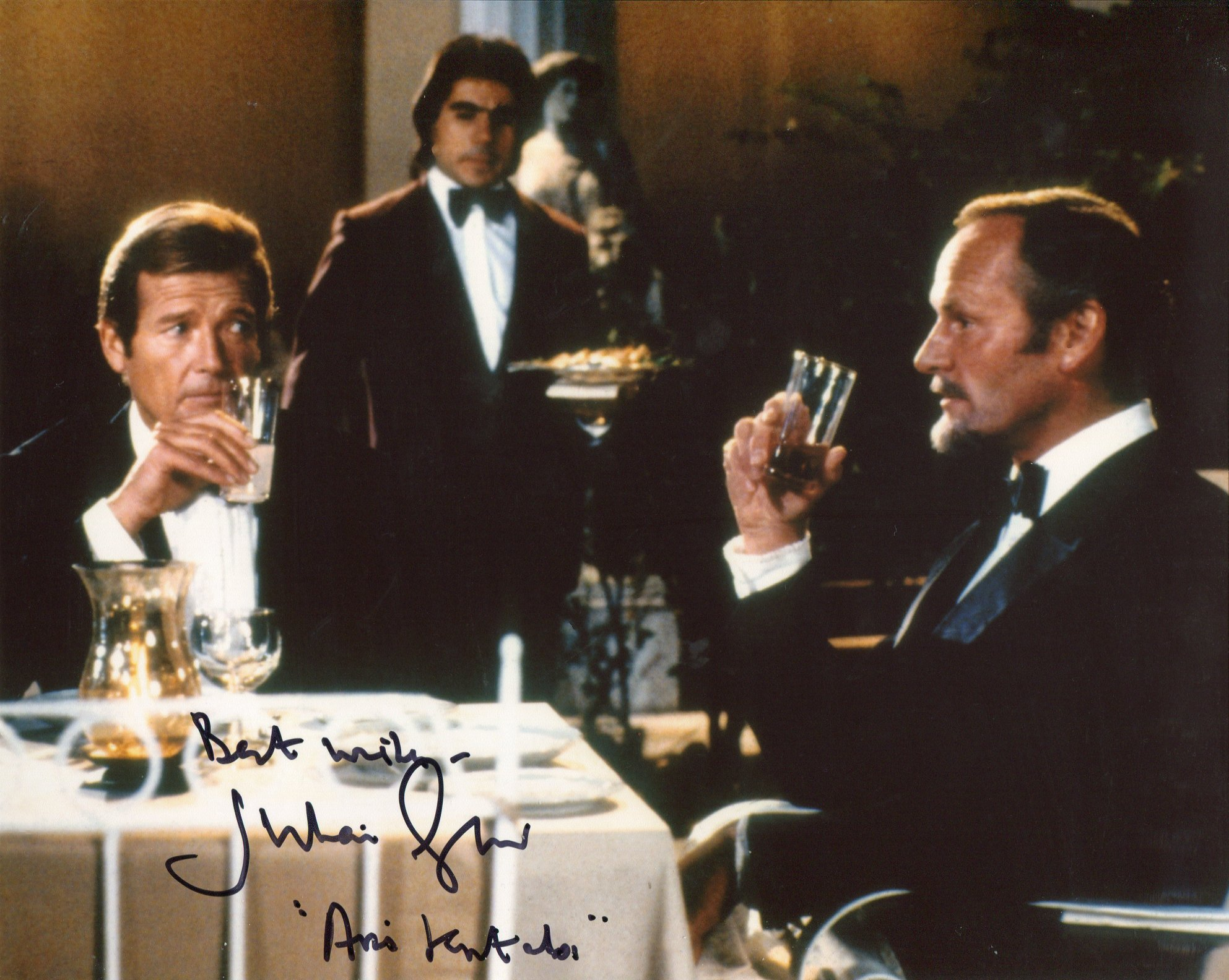 007 James Bond bad guy Julian Glover as Kristatos signed 8x110 photo, he has also added his