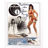 007 Bond girl Caroline Munro signed 8x10 The Spy Who Loved Me montage photo. Good condition. All