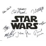Star Wars multi signed 10x8 colour photo 9 fantastic signatures includes Julian Glover, Mike