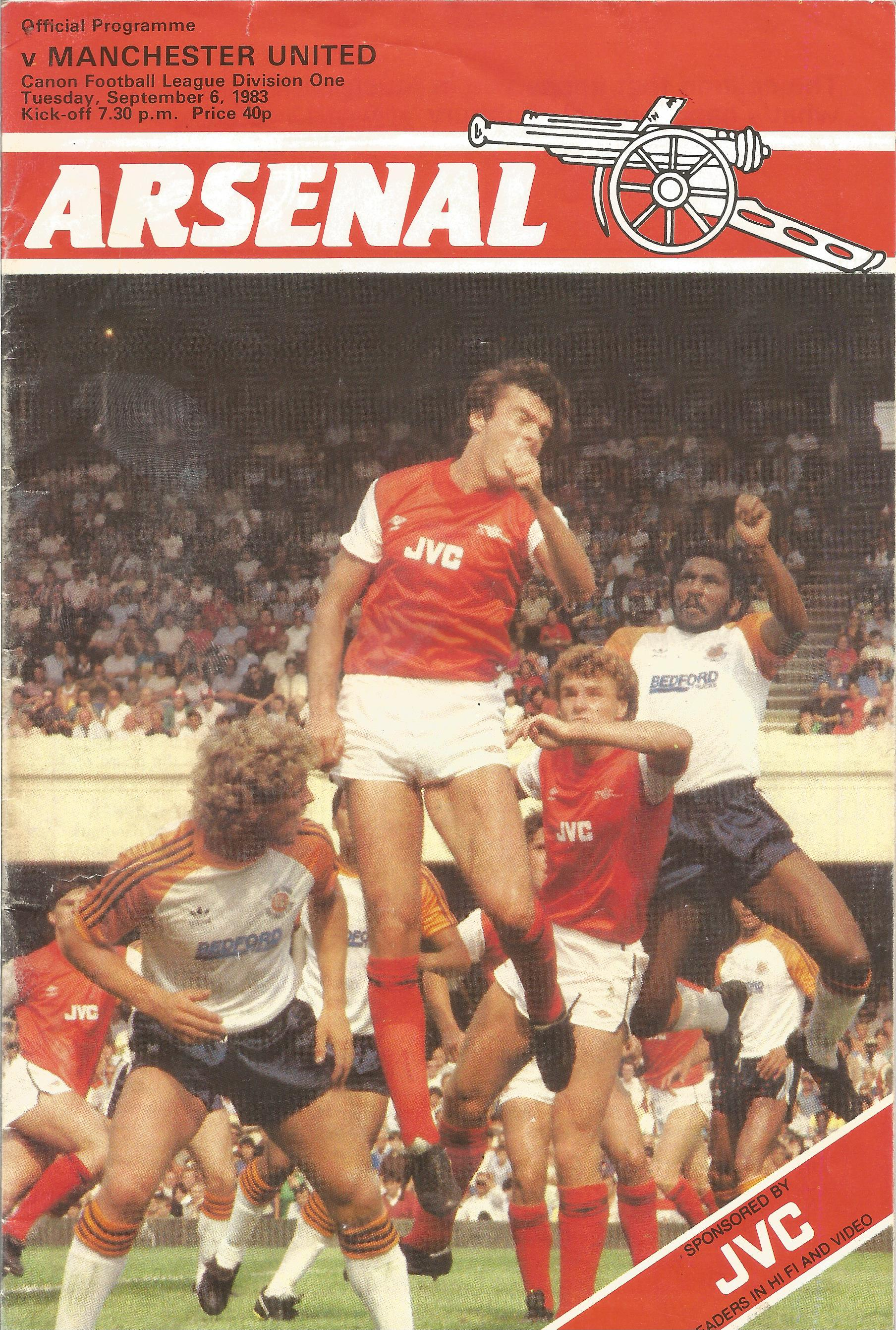 Arsenal. A Collection of 4 matchday programmes. From 1950, 1969, 1969 and 1983. some showing signs - Image 3 of 5