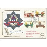 Signed Fire FDC to commemorate the Fire Service National Benevolent Fund. Signed by chief fire