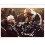 Star Trek Generations, 8x10 film scene signed by actor Malcolm McDowell. Good condition. All
