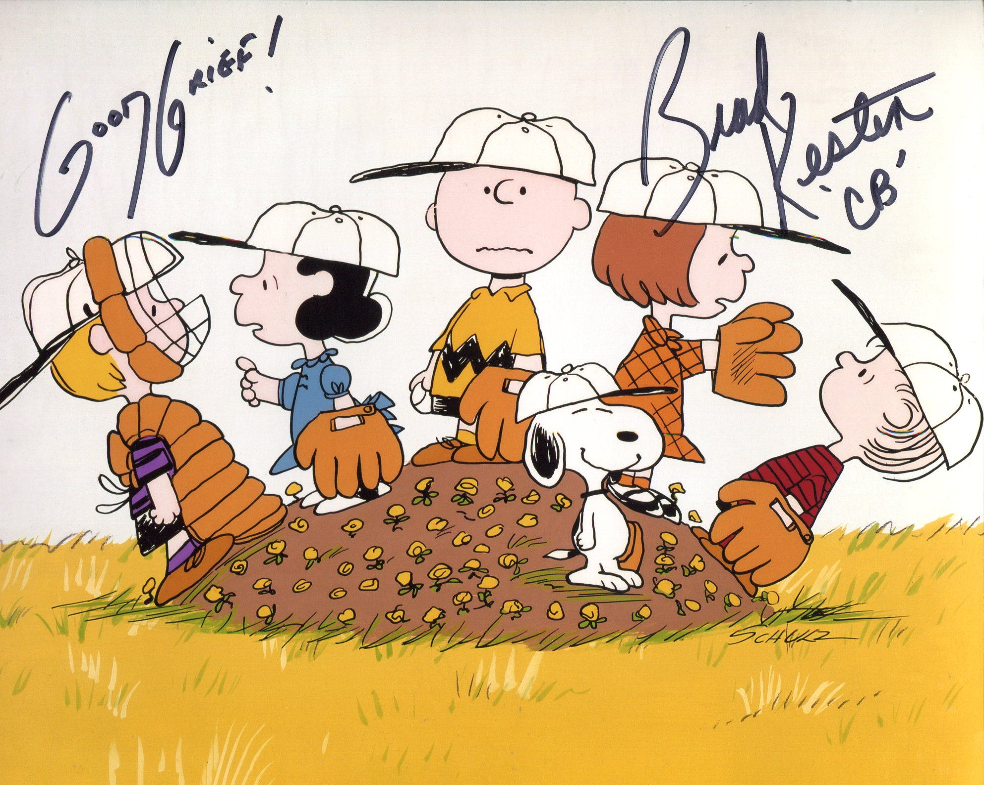 Peanuts & Charlie Brown 8x10 photo signed by Brad Kesten, the voice of Charlie Brown. Good