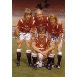 Autographed Man United 12 X 8 Photo Col, Depicting New Signings Jesper Olsen, Alan Brazil And Gordon