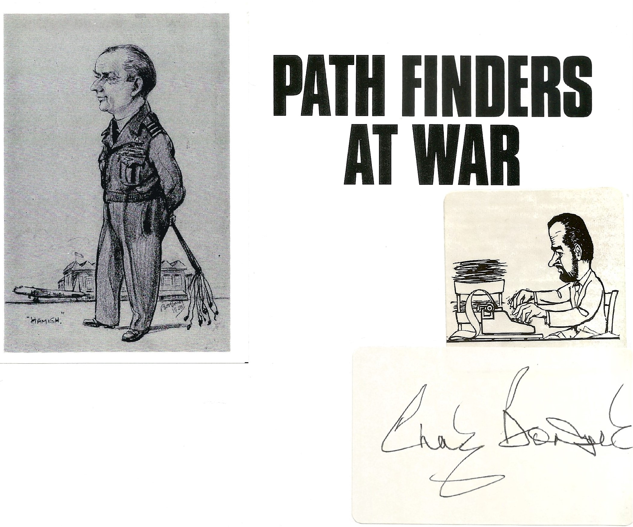 Chaz Bowyer. Path Finders At War. WW2 hardback book in great condition. Signed by the author. 160 - Image 2 of 2