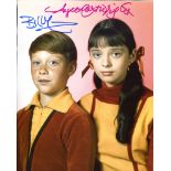 Lost in Space 8x10 photo signed by actors Bill Mumy and Angela Cartwright. Good condition. All