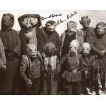 Star Wars 8x10 photo from Return of the Jedi, signed by actor David Stone as Wioslea and Eileen