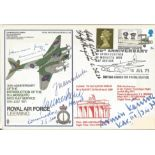 WW2 Luftwaffe Hans Rossbach multi signed cover. Hans Rossbach No 19 Royal Air Force Leeming multi