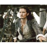 Orlando Bloom, stunning 8x10 photo from Pirates of the Caribbean, signed by actor Orlando Bloom.