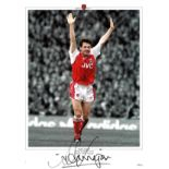 Football, Anders Limpar signed 16x12 colourised promo photograph picturing pleasing the crowd during