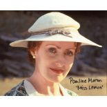 Poirot, 8x10 photo signed by actress Pauline Moran as Miss Lemon. Good condition. All autographs