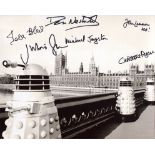 Doctor Who 8x10 photo signed by SIX actors who starred in the series, Christopher Ryan, John Leeson,