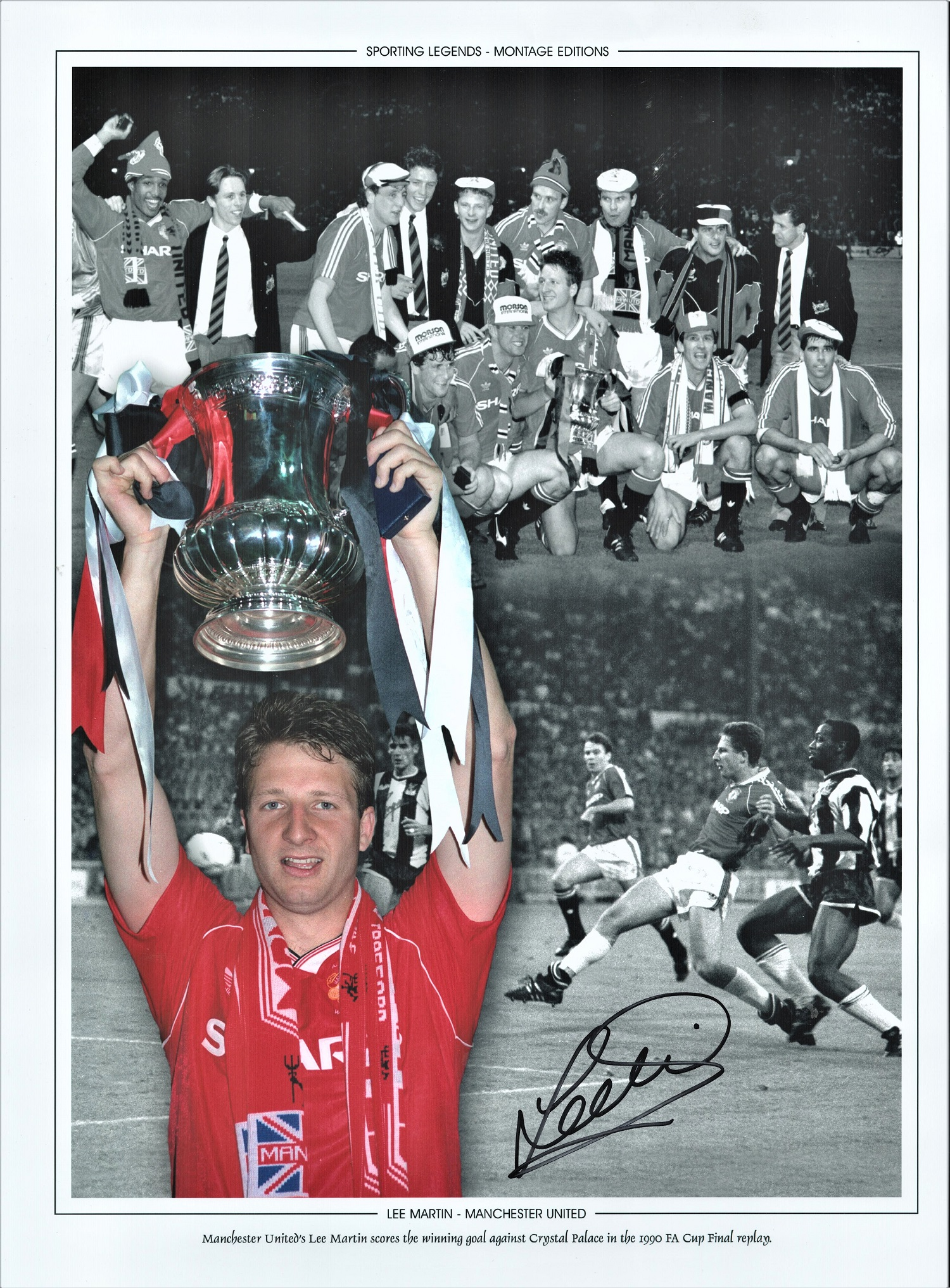 Football Lee Martin signed 16x12 colour photo pictured with the FA Cup during his time with