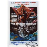 007 James Bond movie The Spy Who Loved Me 8x12 photo signed by actress Caroline Munro and actor