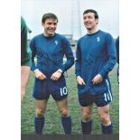 Football Bobby Tambling and John Boyle colour photo pictured during their playing days with Chelsea.
